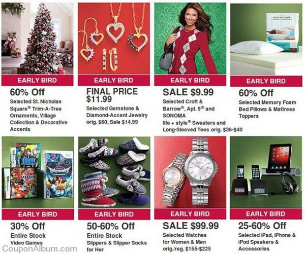 kohls early bird offers