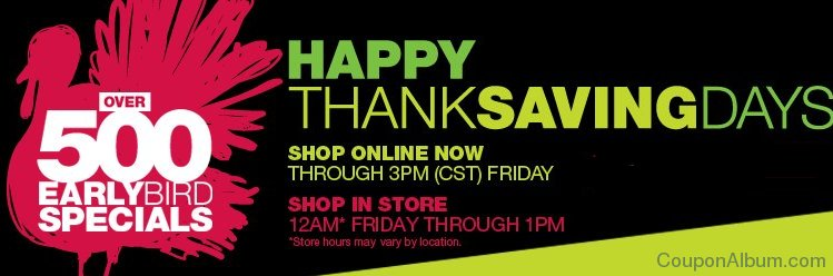 kohls happy thanksaving days