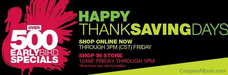 kohls happy thanksaving days