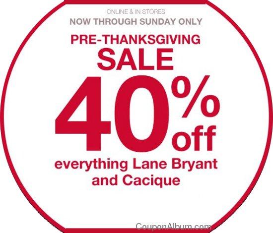 lane bryant thanksgiving sale