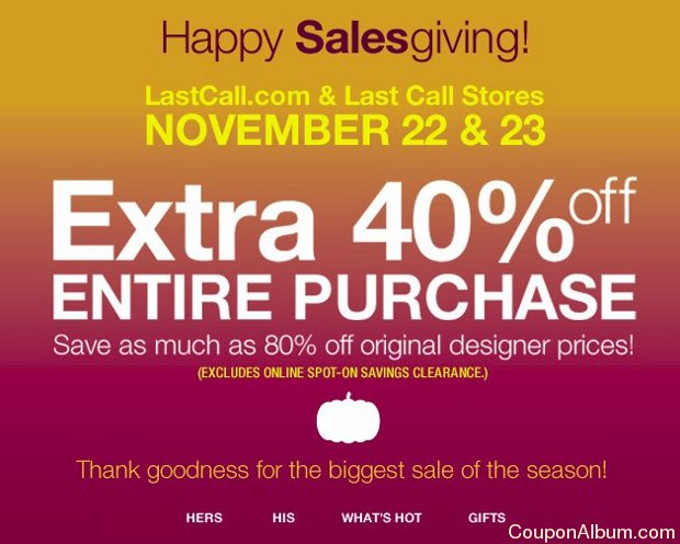 last call by neiman marcus happy salesgiving