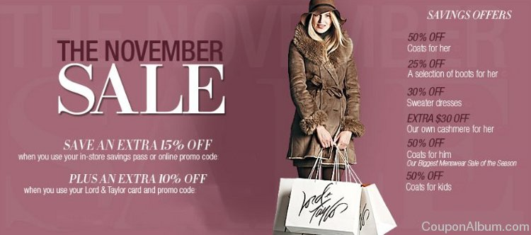 lord and taylor november sale