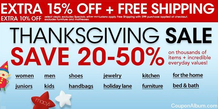 macys thanksgiving sale