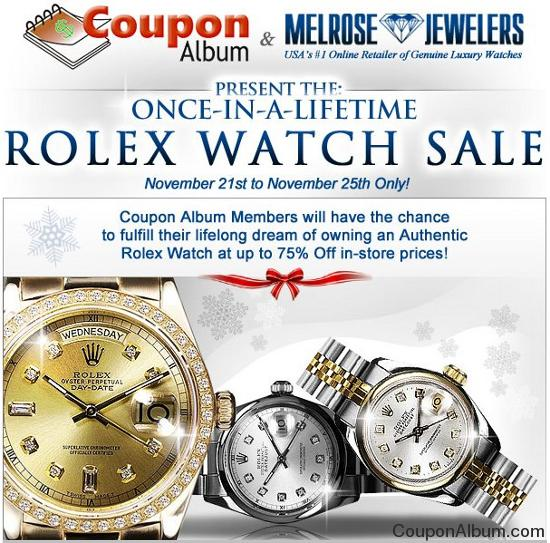 melrose jewelers couponalbum exclusive offer