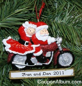 mrs-claus-n-santa personalized christmas ornament