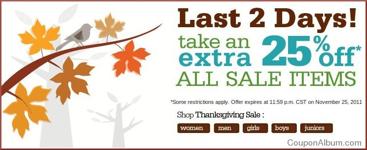 shoes.com thanksgiving sale