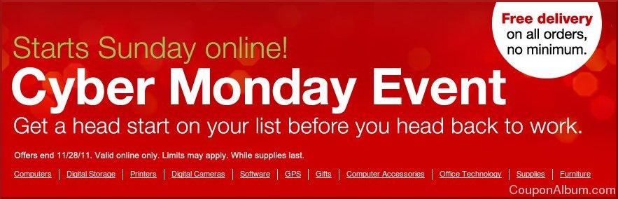 staples cyber monday sale