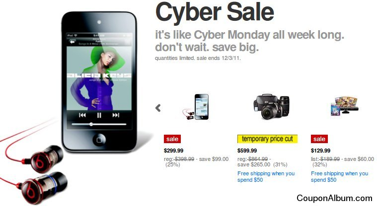 target cyber monday sale