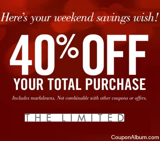 the limited 40 off coupon