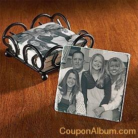 tumbled marble photo coasters