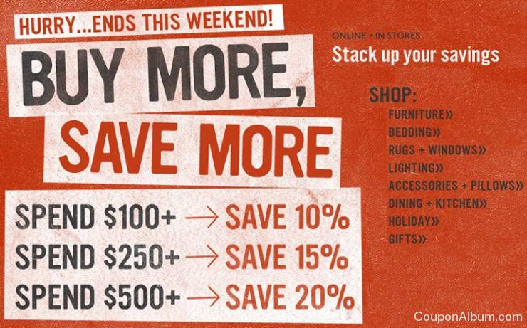 west elm buy more save more event