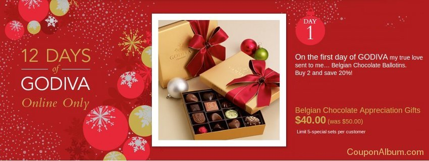 12 days of godiva chocolates