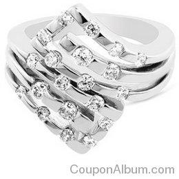 14K WG 1.00 Carat Diamond Fashion Ring