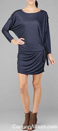 7 FOR ALL MANKIND CHRISTINA TIE WAIST DRESS