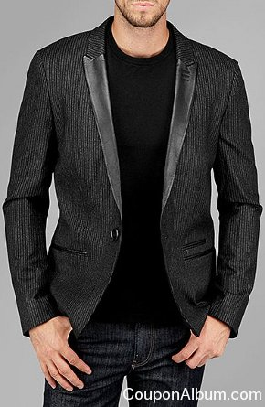 7 FOR ALL MANKIND PINSTRIPE BLAZER