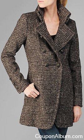 7 FOR ALL MANKIND TWEED WOOL COAT