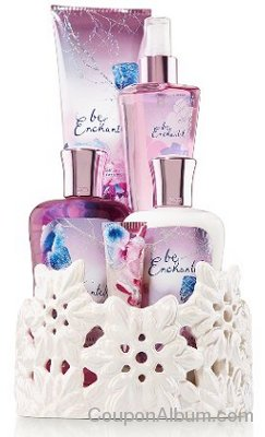 Bath & Body Works Signature Collection Snowflake Luminary Gift Set