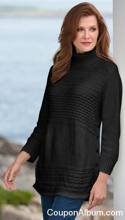 Cabled Tunic Sweater