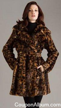 Calvin Klein Leopard Print Wool Coat
