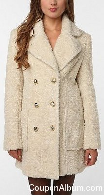 Pins and Needles Faux Fur Peacoat