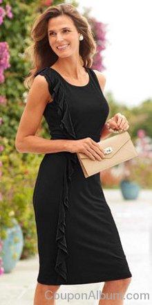 Shape Benefits Side Ruffle Dress