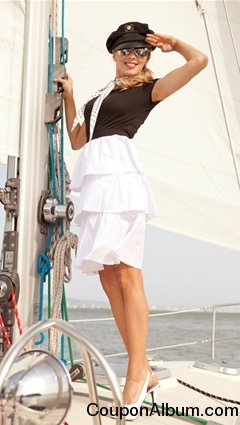 Starboard Bow T-shirt with Ruffle Skirt 3 Tiered Dress