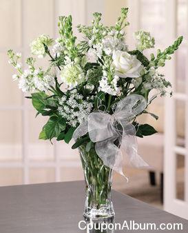 all white hanukkah arrangement