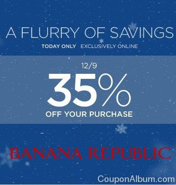 banana republic online savings