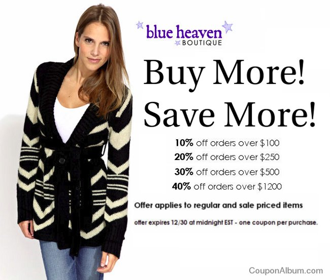 blue heaven boutique hot offer