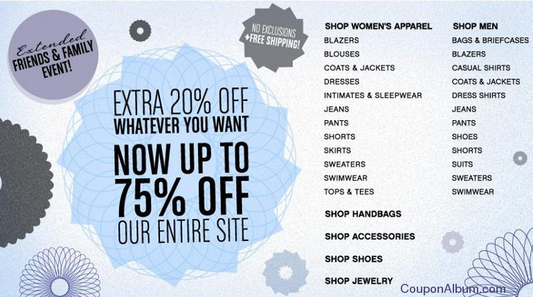 bluefly friends and family sale