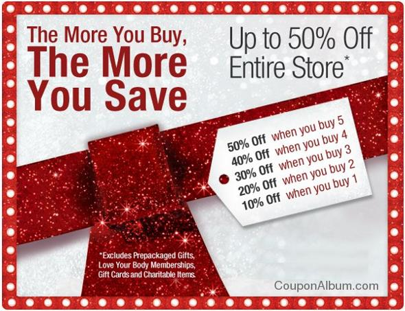 body shop buy more save more event