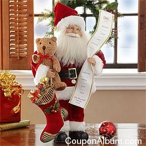 collectible santa with personalized list