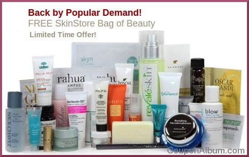 free skinstore bag of beauty
