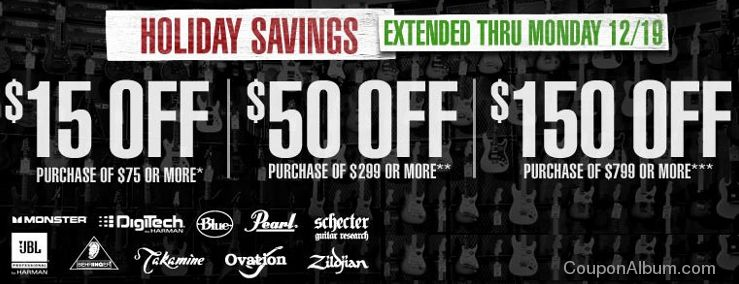 guitar center holiday savings
