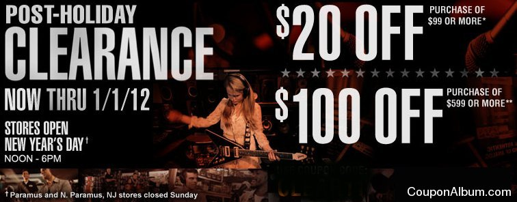 guitar center post holiday clearance