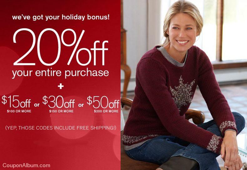 j.jill hot holiday bonus