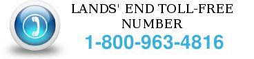 lands end toll free number
