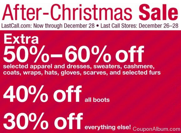last call after christmas sale
