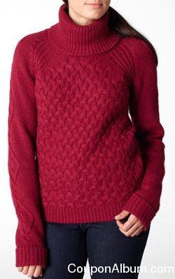 levis Basketweave Turtleneck Sweater