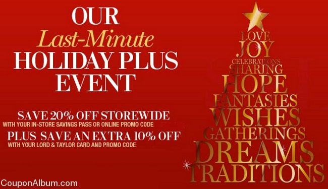 lord and taylor holiday plus event