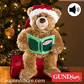 personalized christmas storytime talking gund bear