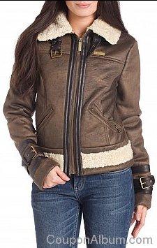 sean john aged faux suede aviator jacket