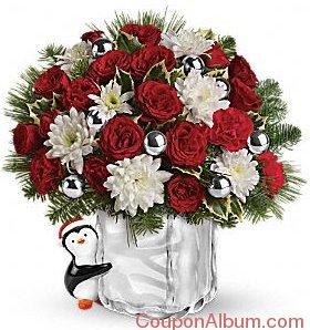 send a hug penguin bouquet