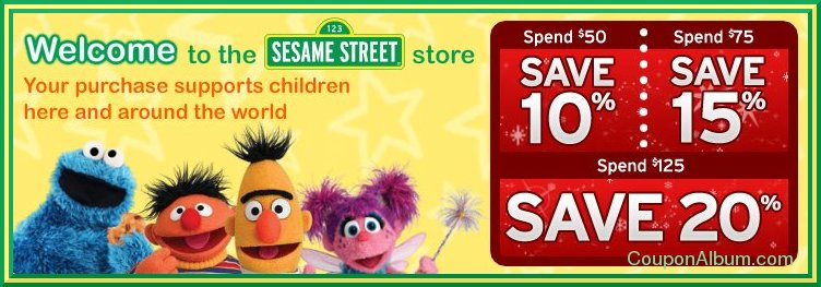 sesame street store holiday event