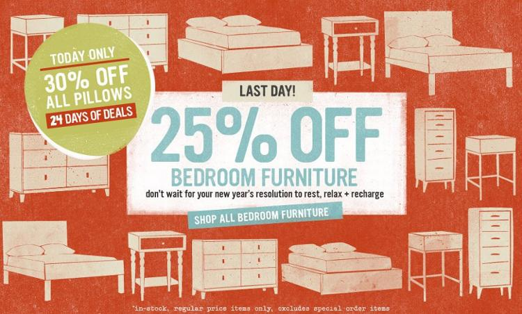 West elm bedroom furniture sale ornament sale more for Sales on furniture online