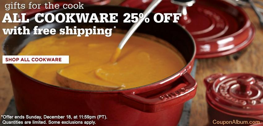 william sonoma cookware couponq