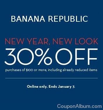 banana republic coupon