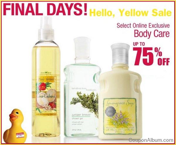 bath body works hello yellow sale
