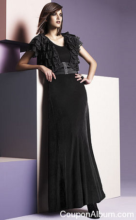 black velour dress