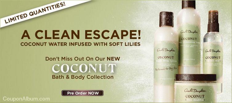 carols daughter coconut bath-body collection